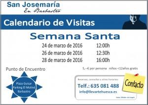 20126 semana santa calendario visitas RSJM