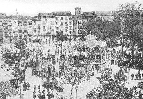 Kiosko del Espolón, Logroño, 1915.
